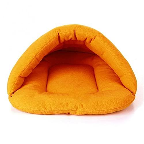 ANGSUANG Morbido Pile Inverno Caldo Cane Cane Cane Cane Piccolo Gatto Sacco A Pelo Cucciolo Cave Letto (Colore: B, Taglia S: S)