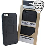 """Case for iPhone 7 / iPhone 8, with TJS [Tempered Glass Screen Protector], Magpul [Field] MAG845-BLK Polymer Case Cover Retail Packaging Compatible Apple iPhone 7/iPhone 8 4.7"""" inch (Black)"""