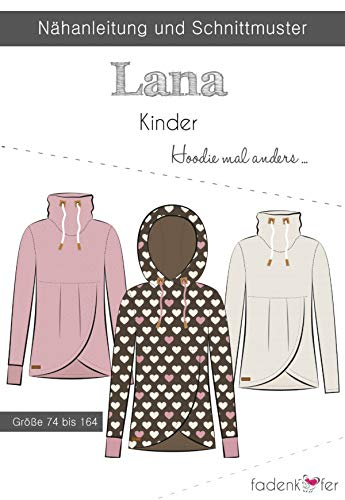 Schnittmuster und Nähanleitung - Kinder Hoodie - Lana