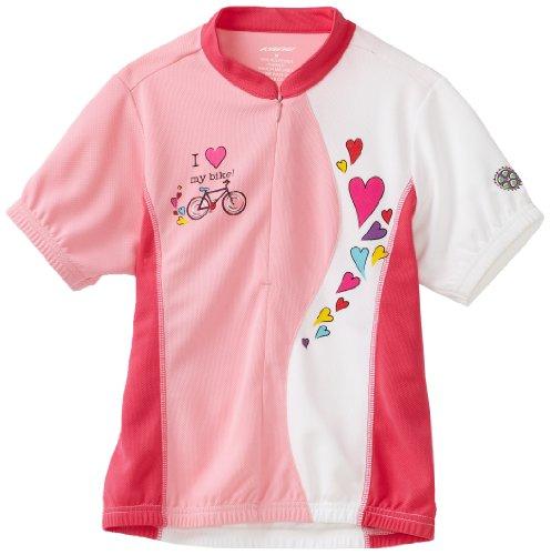 Kanu Bike Girl's Kool Kitten Cycling Jersey (Pink, Medium)
