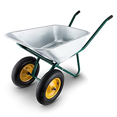 Waldbeck-Heavyload-Wheelbarrow-Garden-Cart-2-Wheel-Zinc-Plated-Steel-Robust-with-Powder-Coating-on-the-Frame-120-Litres-Volume-320-kg-Load-Capacity-Large-Rubber-Grips-Green