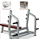 Barras Pull-Up Press de banca Cama de Levantamiento de Pesas Comercial Press de banca Barbell Bed Squat Rack Barbell Set Inicio Equipo de Fitness multifunción (Color: Gris Tamaño: 168 * 117