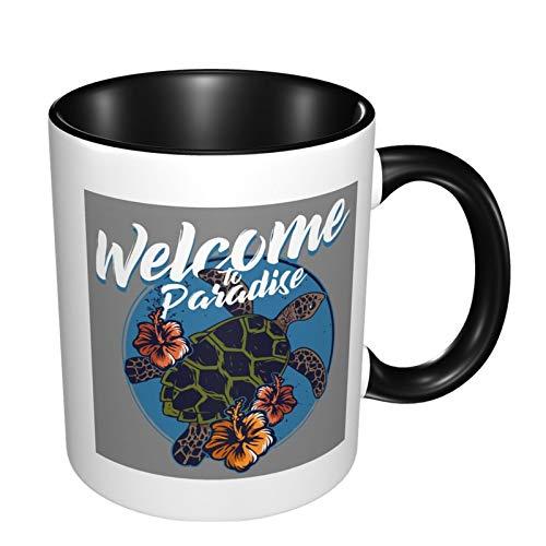 Ocean Tribal H-Awaiian Sea Turtle The Office 11 Ounces Funny Coffee Mug,Best Gift Or Souvenir