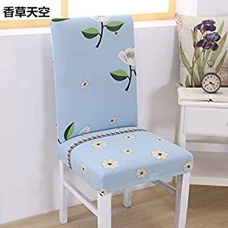 T-CYYT 2 Pieces Knitting Elastic Computer Piece Office Chair Saving Dining Chair Cover Hotel Hotel Chair Cover Universal Chair, Vanilla Sky