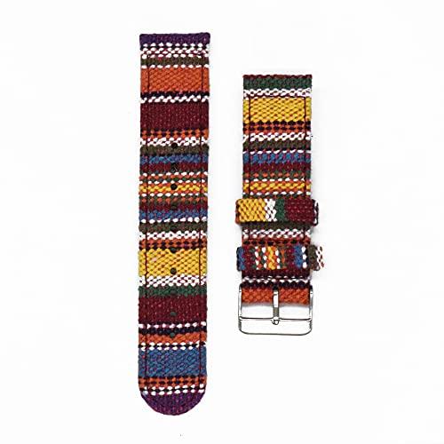 LINMAN Multicolor 20mm Reloj de Reloj Nylon 20mm Reloj Correa de Reloj de 22 mm Accesorios de Reloj Reloj de Reloj de Reloj (Band Color : Steel Buckle 6, tamaño : 20mm)