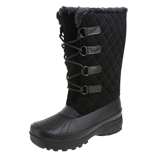 Rugged Outback Black Women's Therma Weather Boots 11 Regular