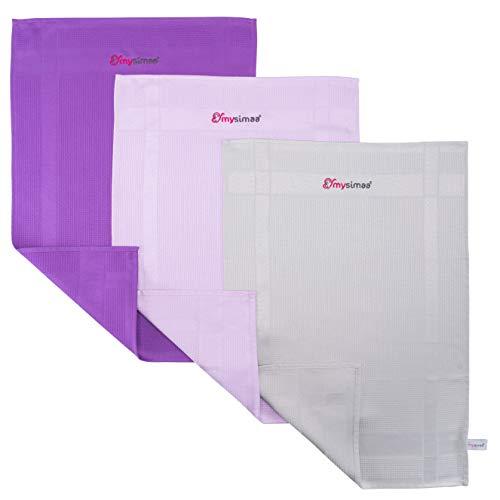 mysimaa® Dezent Putztücher Premium Profi Microfaser Allzweck-Reinigungstücher ohne Putzmittel für Streifenfreien Glanz im Haushalt, Auto, Büro sowie für Fenster Spiegel Glas UVM. (60 x 40)