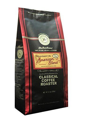 コーヒー豆 クラシカルコーヒーロースター 100% アラビカ豆 アメリカンブレンド 250g (8.8oz) 粗挽