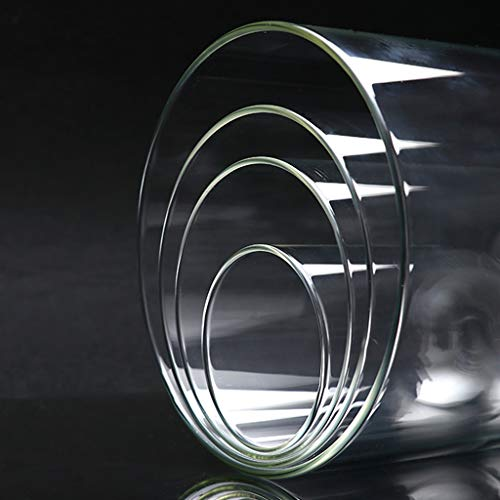 BBlesiya透明ガラスドーム木質ベースガラスカバーガラスドームクローシェ装飾品多種選べる-ブラウンB