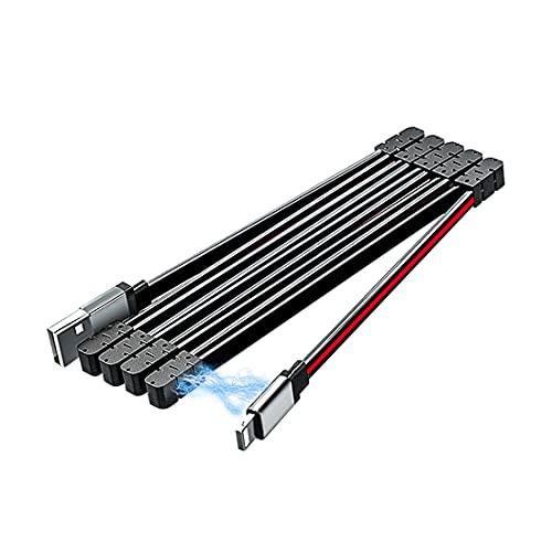 Lively Life Cable de carga fácil organizado cable de carga magnético de absorción de datos compatible con teléfono 12/11/XS/X/8/8 Plus/7/7 Plus/6s/6s Plus/6/6 Plus/SE/5s/5c/5/Pad/Pod