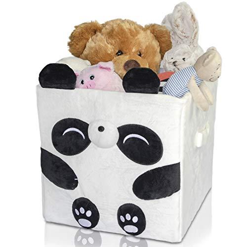 Antiope Design Boite De Rangement 33x33 Cm Decoration Chambre Bebe Peluche Jouet Enfant Lavable Panier A Linge Coffre A Jouet Cube De Rangement (Panda)