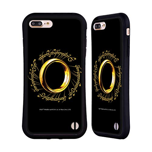 Head Case Designs Ufficiale The Lord of The Rings: The Fellowship of The Ring Un Anello Grafiche Cover Ibrida Compatibile con Apple iPhone 7 Plus/iPhone 8 Plus