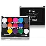 15 colores de pintura facial segura y no tóxica para cara y cuerpo Pintura profesional a base de aceite para suministros de pintura de fiesta de maquillaje de Halloween