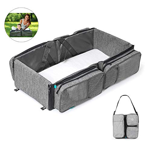 Lowest Price! LYXCM Baby Bassinet for Bed, Baby Nest with Replaceable Mattresses Portable Detachable...