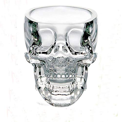 HNGM Vaso de Whisky Copa de Cristal Cabeza de cráneo Copa de Cristal para el cóctel Cristal Whisky Taza Vodka Vino Mini Bones Barware Bebe Ware Skull Gafas (Capacity : 75ML, Color : 3pcs 75ml)
