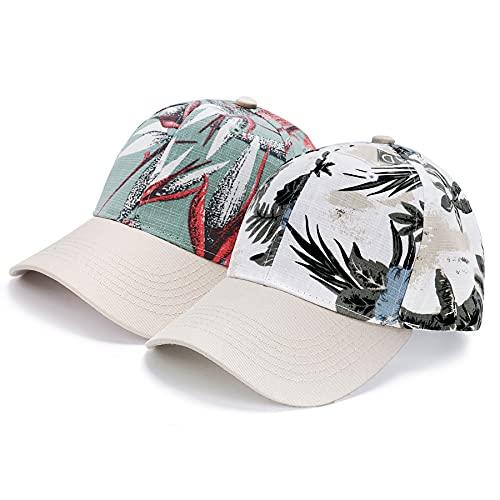 BLURBE Sombrero de Camuflaje Hombre Mujer-Sombrero Estampado,Gorra de Béisbol de Béisbol Ajustable Sombreros con Visera para Deportes al Aire Libre