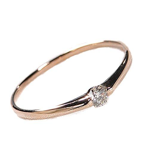 K18PG 一粒ダイヤモンド リング【0.1ct】(8号)【ギフトラッピングされています】【無料でイニシャルや刻印ができます】 【品質保証書が付いています】