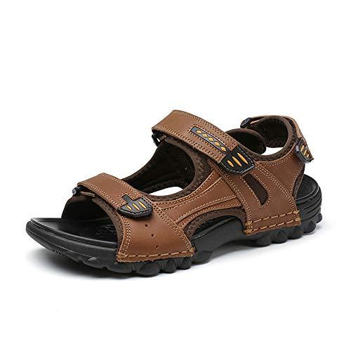 ALLAK Men's Sports Sandals Trail Outdoor Water Shoes (Brown-Lable 42/8 D(M) US Men)