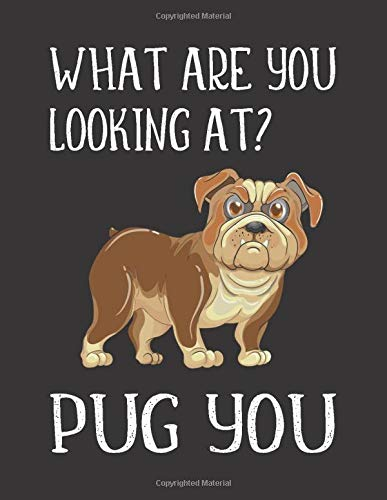 WHAT ARE YOU LOOKING AT? PUG YOU: Funny Pug Gifts For Men Women Friends Coworkers - Paperback Notebook (Journal for Dog/Puppy Lovers)