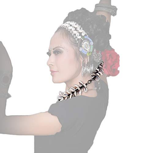 NICEWL Zigeuner ATS Tribal Bauchtanz Zubehör Kopfschmuck,Frauen Handgemachte Retro Shell Quaste Anhänger Tanz Stirnbänder Kostüm Dekoration