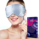 Silk Heated Eye Mask for Dry Eyes - Warm Compress for Eyes Electric, Nanotubes Fast Heating, Adjustable Time & Temp Control Sleep Mask, Relieves Blepharitis, Dark Circle, Puffy Eyes