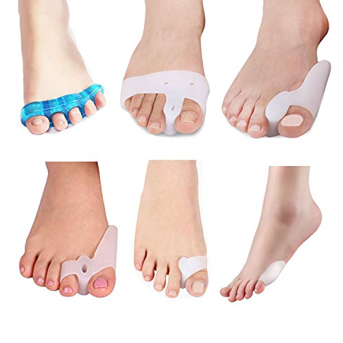 ZNYSMART Toe Separator Bunion Corrector and Bunion Relief Big Toe Spacer Hammer Hammertoe Straightener Bunion Splint Gel Foot Care Product 12pcs/Set