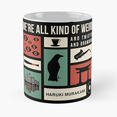 Haruki Murakami Mug Best For Otaku and The Rest of The World 2020 Eat Food Bite John Best - Taza de café de cerámica Blanca, 11 onzas, Onza