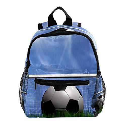 Fußballtor Leichter Kinderrucksack Kleinkind Kinder Schultasche Robuster, lässiger Buchrucksack für Mädchen und Jungen 25.4x10x30cm