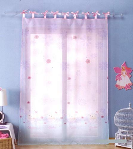 Cortina de visillo 140 x 240 cm para habitación infantil • Niñas Sheer Curtain (Barbie • Winter)