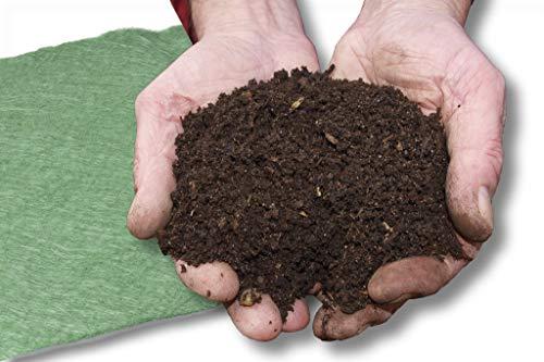 1 Stück 4 x 6 m 200 g/m² Kompostvlies Kompostschutzvlies Abdeckvlies Vlies Kompostabdeckung Vliesabdeckung Kompostfolie 200 g/m² Profi Qualität uv beständig wasserdurchlässig + atmungsaktiv