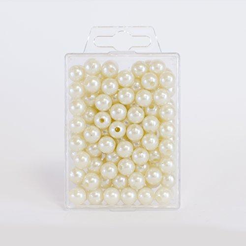 Alambre de papel diferentes ofertas en todas las longitudes y colores para manualidades, floristería, manualidades(perlas de 6 mm, 600 unidades), color champán