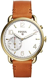 Fossil Hybrid Smartwatch - Q Tailor Leather, Brown FTW1127