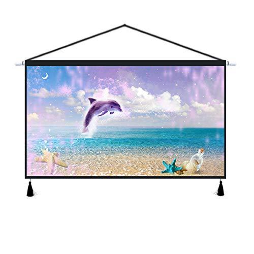 PJX Creativo de la vida marina de tela colgante de la pared de la decoración del medidor eléctrico de la caja de la cubierta del suelo del mar de tela de tapiz de delfín mural-