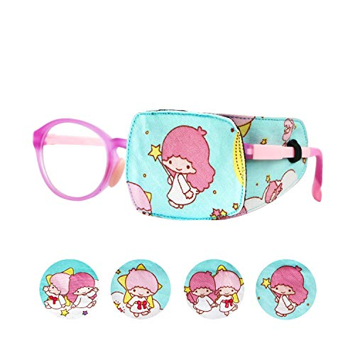Astropic 1Pc Cotton and Silk Eye Patch for Kids Girls Boys Eye Patch for Glasses Medical Eye Patch for Children with Lazy Eye Amblyopia Strabismus and After Surgery (Fairy - Magic Wand, Left Eye)