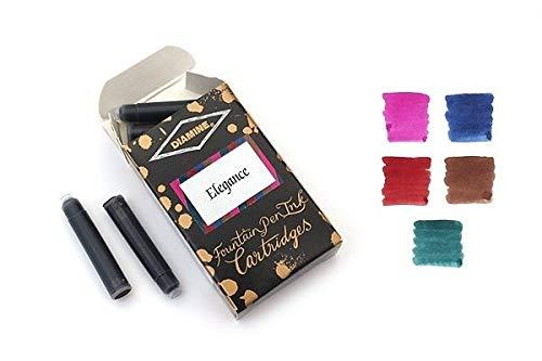 Diamine Paquetes de cartuchos mixtos Elegance (tamaño estándar)