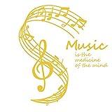 Cczxfcc 58 X 65 Cm La Música Es La Medicina De La Mente Pegatinas De Pared Notas Musicales Stave...