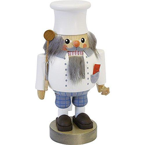 Richard Glässer Seiffen German Nutcracker Cook, Height 19 cm / 8 inch, Original Erzgebirge by Richard Glaesser Seiffen