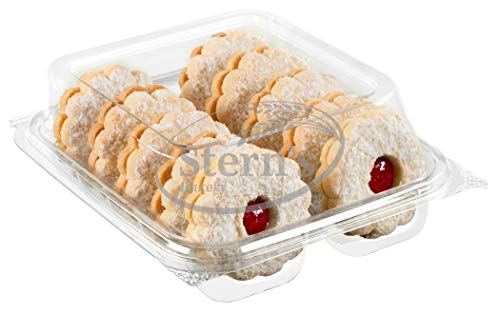 Linzer Tart Cookies with Raspberry Jam | Shortbread Cookies | Fresh & Delicious Italian Cookies | Linzer Tortes | Jelly Filled Cookies | Gourmet Cookies | 9 oz Stern's Bakery (Raspberry)
