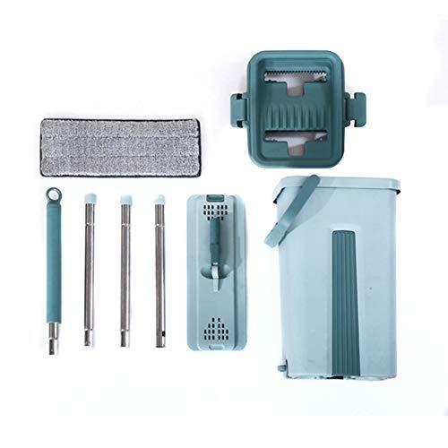Giytoo mopsysteem voor vloerreiniging 2-in-1 wasbeurt met vlakke vezel-mop pads