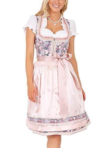 Krüger Damen Dirndl Mini, Modell: Dirndl Selma (60 cm), Knielang, 60cm, Art.-Nr. 047456-0-0233, 40, rosa