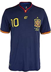 RFEF Camiseta oficial conmemorativa final Mundial Sudáfrica 2010 - dorsal 10, Navy, M (20CM1836)