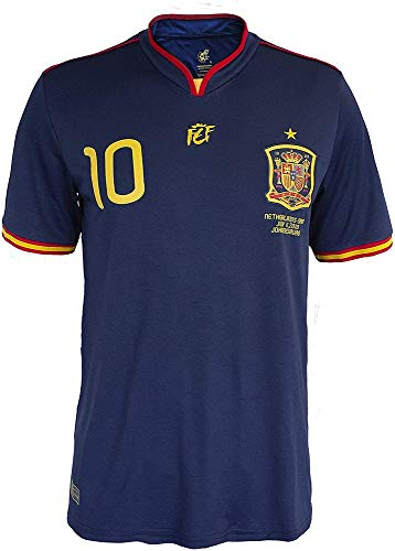 RFEF Camiseta oficial conmemorativa final Mundial Sudáfrica 2010 - dorsal 10, Navy, XL (20CM1836)