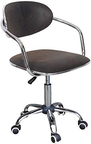 ZHFZD Moderne draaistoel van rotan, computerstoel, ergonomische bureaustoel, rugpaneel, ontvangststoel (kleur: D) Size Oro rosa + oro rosa
