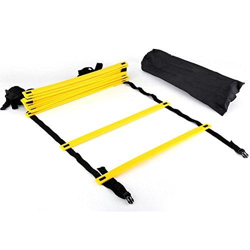 GLOGLOW 6m Agility Ladder, Attrezzatura per l'allenamento della velocità ad Alta intensità con 12...