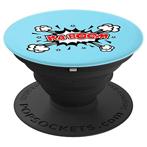 Kaboom, Bang, Pow, Comic Book, Explosion, Speech, Bubble, PopSockets Grip and Stand for Phones and Tablets