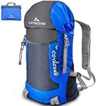 Covacure Packable Hiking Travel Backpack - 35L Lightweight Foldable Durable Water Resistant Camping Daypack for Women & Man