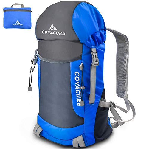 Covacure Packable Hiking Travel Backpack - 35L Lightweight Foldable Durable Water Resistant Camping...
