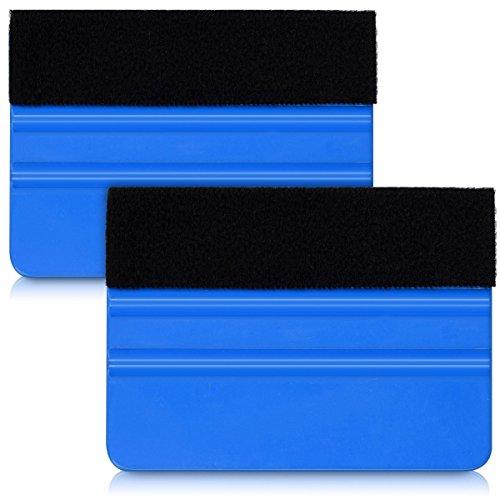 kwmobile 2x Rasqueta vinilo para forrar muebles - Herramienta para rotulación y serigrafía - Espátula para aplicar o quitar pegatinas