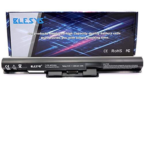 BLESYS VGP-BPS35A Laptop Akku für Sony Vaio SVF15 SVF1521K6EW 14E 15E SVF14 Serie 2200mAh (Kompatibilität mit 14.8V 2670mAh 40Wh Original Akku)