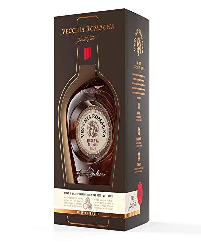 Vecchia Romagna Riserva Tre Botti – Elegante blend di pregiati distillati invecchiati in tre botti differenti, un brandy dal gusto ricco ed intenso. Bottiglia da 70cl, 40,8%.